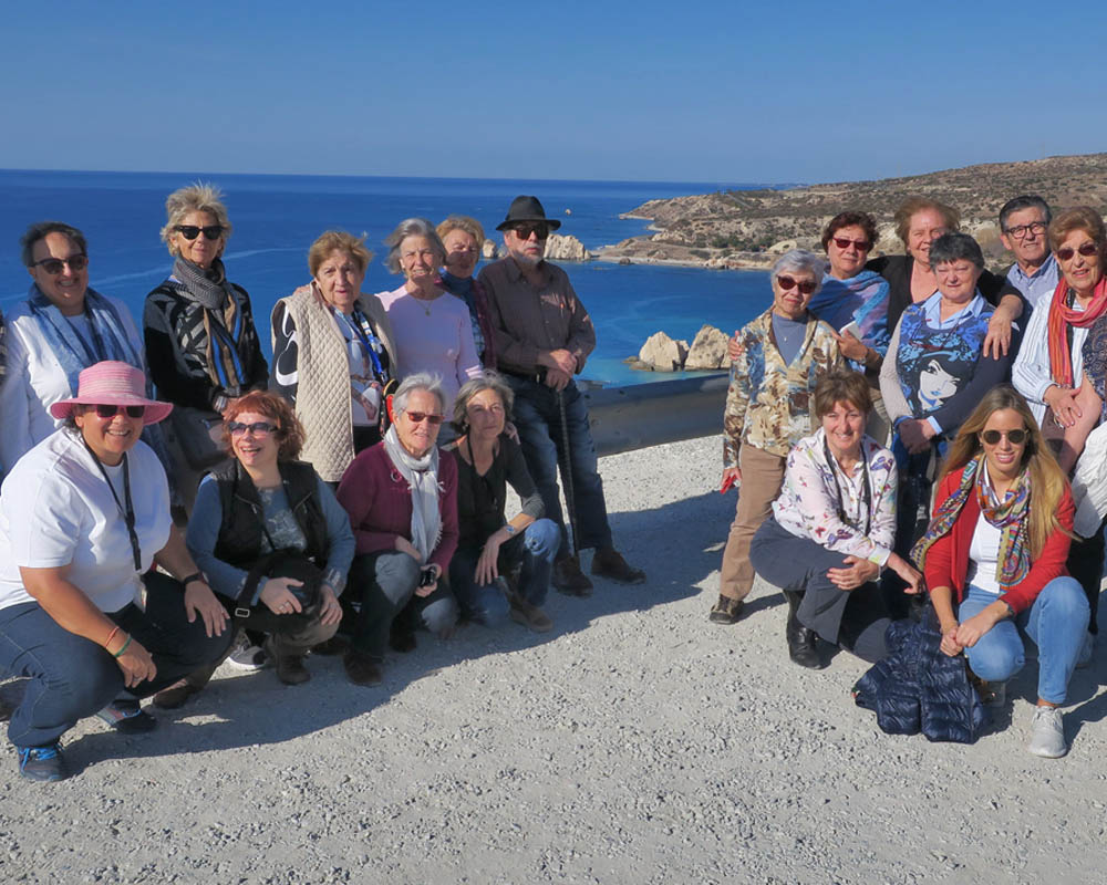 Viatges en grup, Xipre, tardor 2016, Petra tou Romiou, lloc on va néixer Afrodita, mar, Mitic Viatges