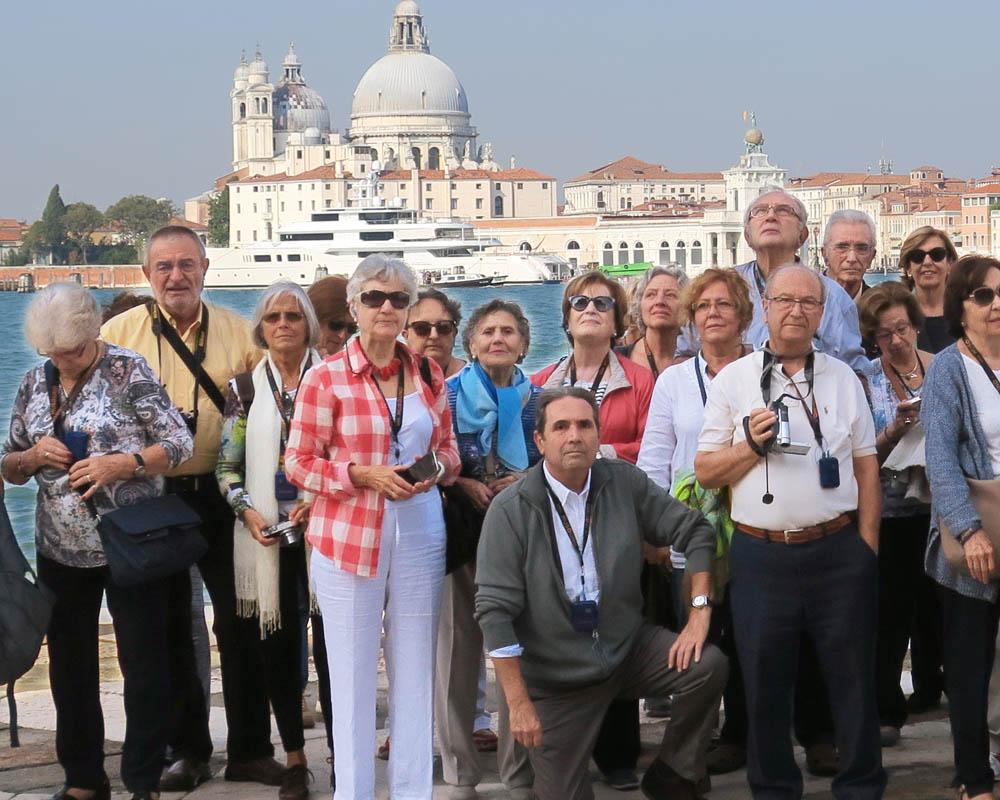 Viatges en grup, Santa Maria de la Salute, viatge cultural i musical , foto grup, Mitic Viatges