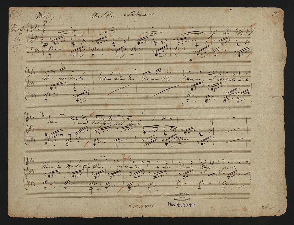 """Partitura """"Am See"""" de Franz Schubert"""