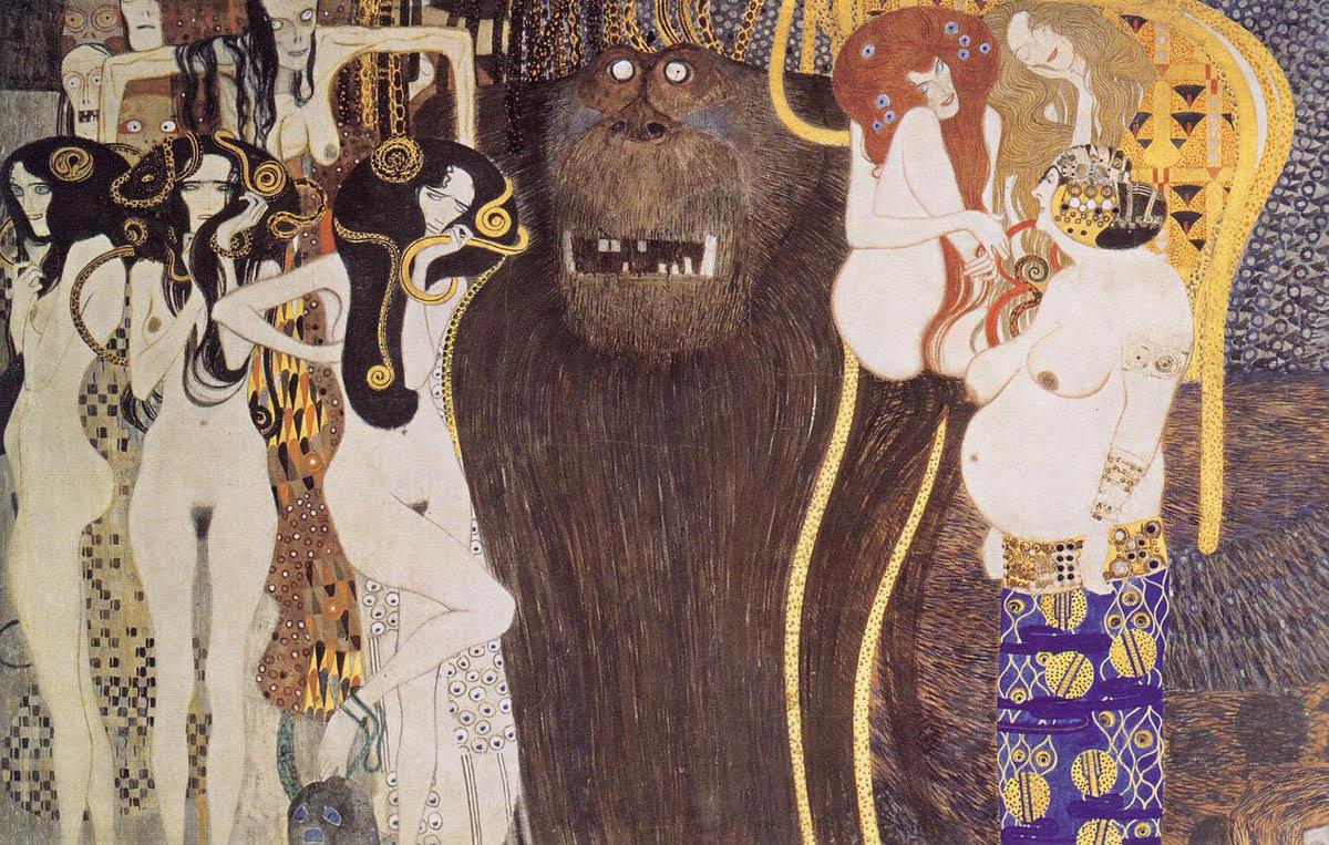 """""""Fris de Beethoven"""" de Gustav Klimt"""