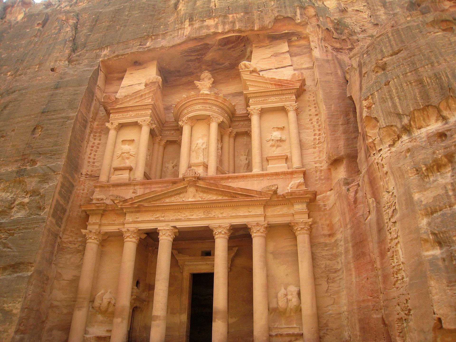 Entrada al Tresor de Petra