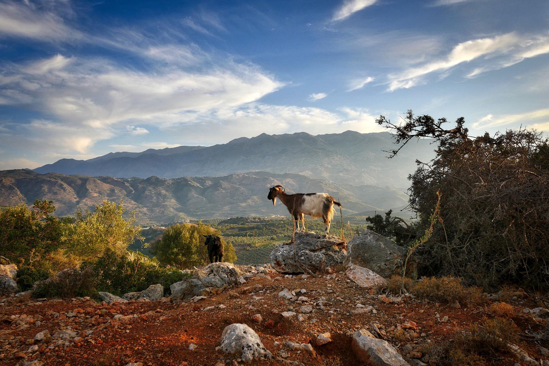 Paisatge de muntanya de Creta