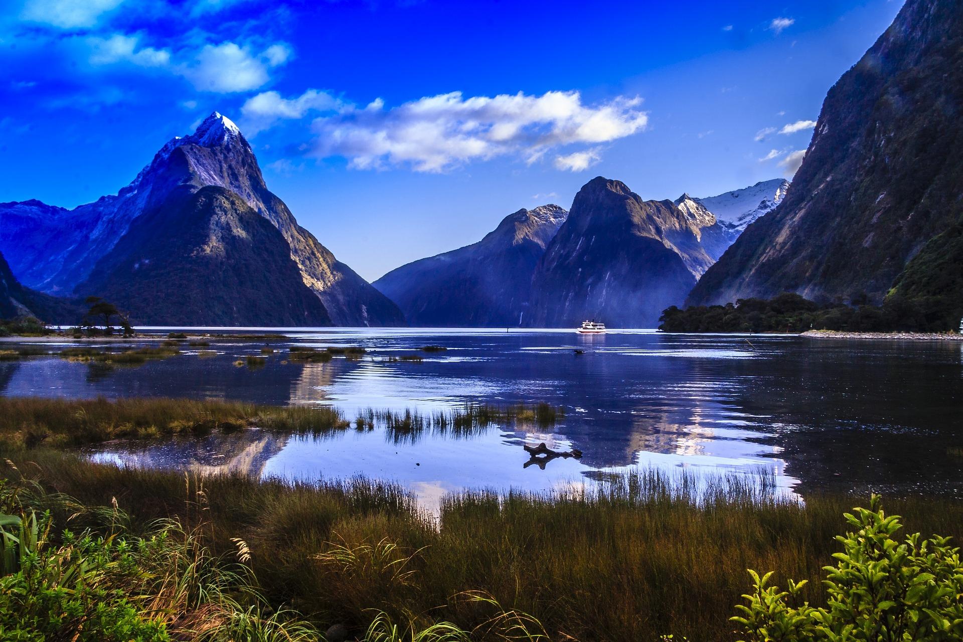 Vistes del Milford Sound a Nova Zelanda