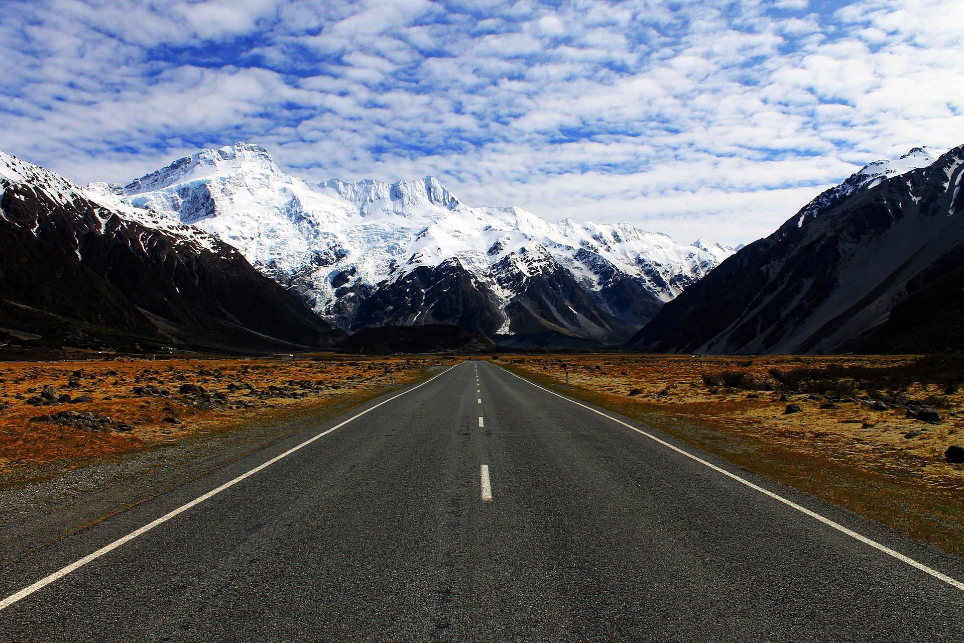 Vistes del Mount Cook des de la carretera