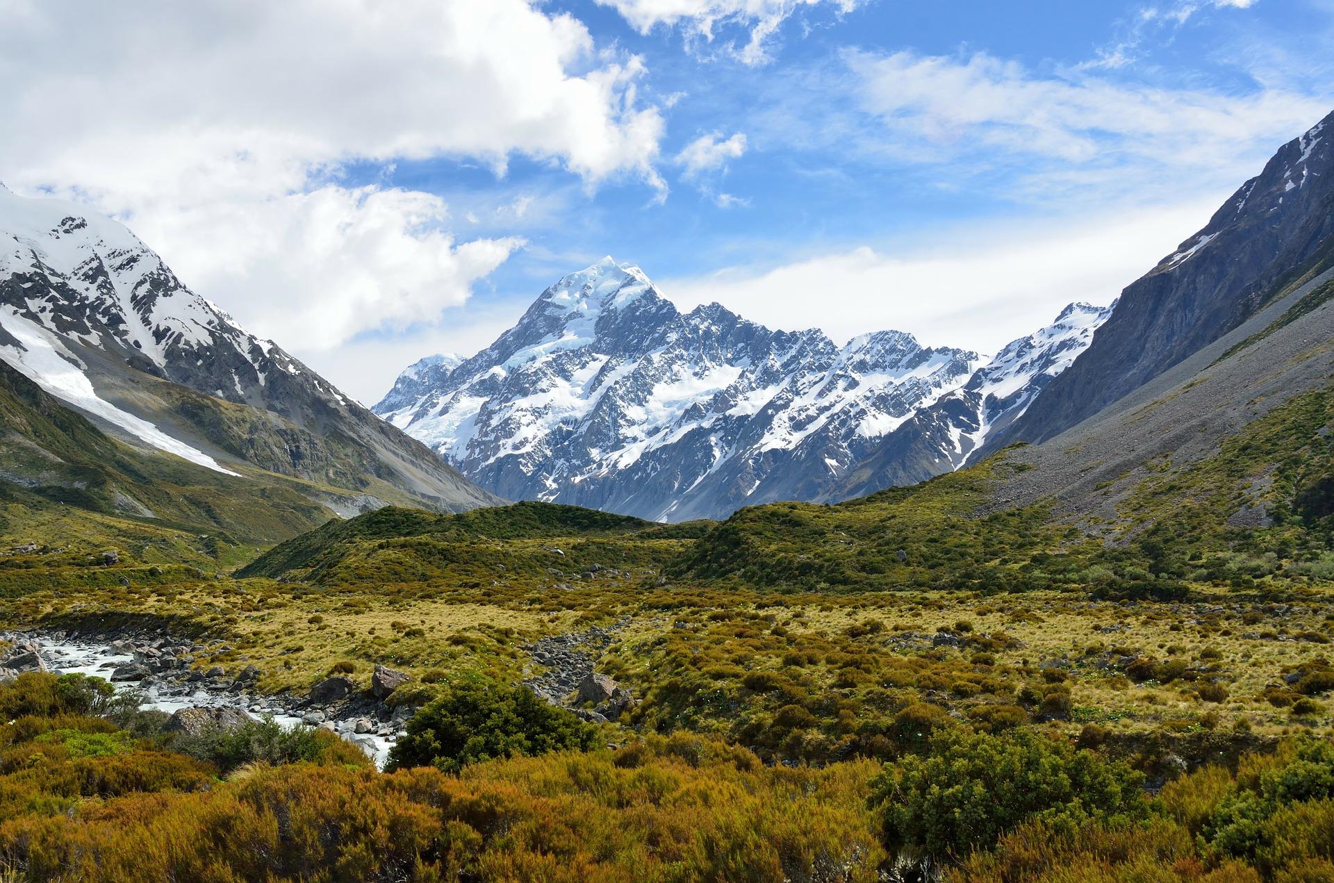 Mount Cook o Aoraki a Nova Zelanda